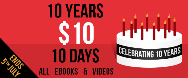 Packt Publishing 10 days 10 years 10$