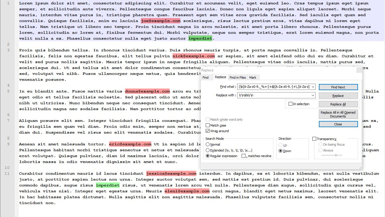 How to extract email addresses from a text file using